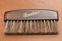 Borsalinoのロゴが入った黒檀製のハンドル部分