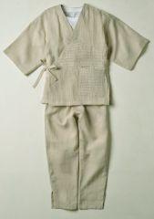 ベージュK-607女性用麻の樹亜羅(キアラ)作務衣