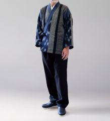 綿の樹亜羅 藍かすり織 寛−7