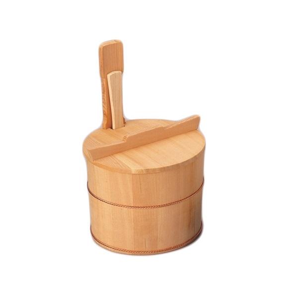 【お取り寄せ】茶飯用 片手桶飯器(しゃもじ付) 円二作