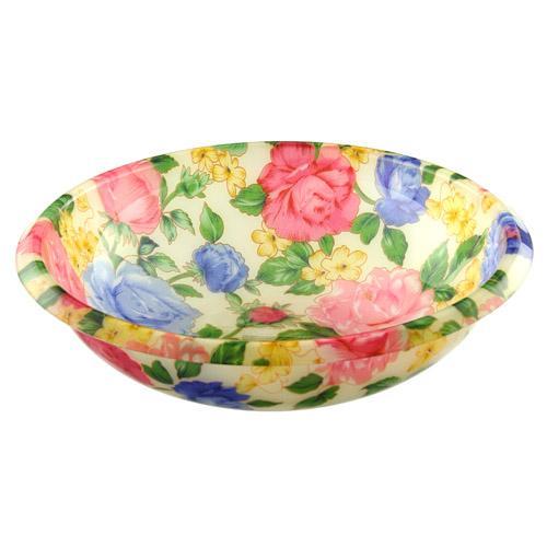 花柄洗面器